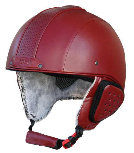 GPA Legend Synthetic Leather Ski Helmet - Burgandy £320.00 (Exc VAT) or £38