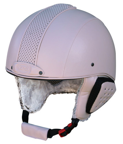 GPA Legend Synthetic Leather Ski Helmet - Pastel Pink £320.00 (Exc VAT) or