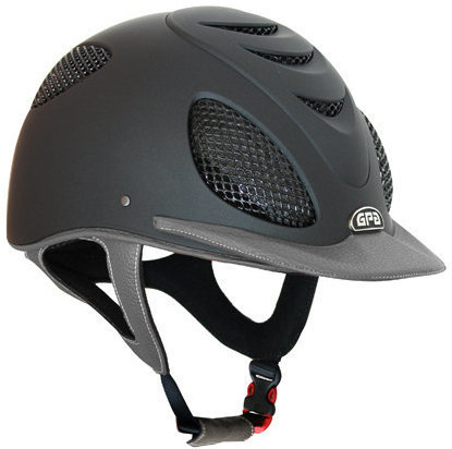 GPA Speed' Air 2X Leather Riding Helmet - Grey/Grey Leather (£415.83 Exc VA