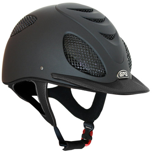 GPA Speed' Air 2X Leather Riding Helmet - Black/Black Leather (£415.83 Exc