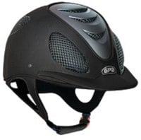 GPA Speed' Air 2X Matt Carbon Prestige Riding Helmet -  Black Leather (£816.67 Exc VAT & £980.00 Inc VAT)