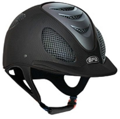 GPA Speed' Air 2X Matt Carbon Prestige Riding Helmet -  Black Leather (£625