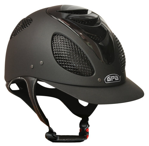GPA New Generation EVO + Tone On Tone 2X Riding Helmet - Black With Polishe
