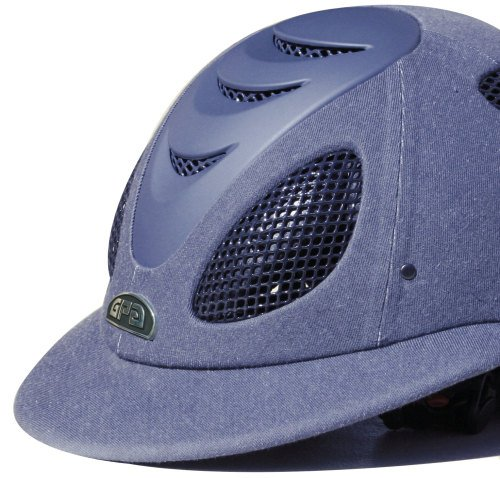 GPA Speed' Air Polo 2X Fabric Covered Riding Helmet - Jean Colour (£375.00