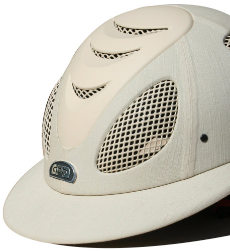 GPA Speed' Air Polo 2X Fabric Covered Riding Helmet - Beige (£375.00 Exc VA