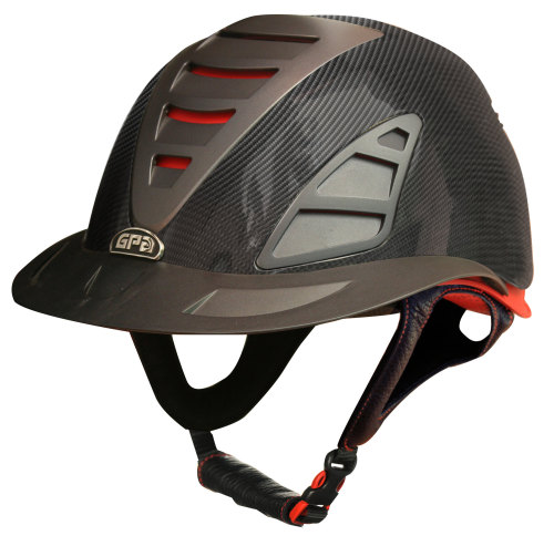 GPA First Lady Carbon 4S REDLINE Collection Riding Helmet - Carbon in Shiny
