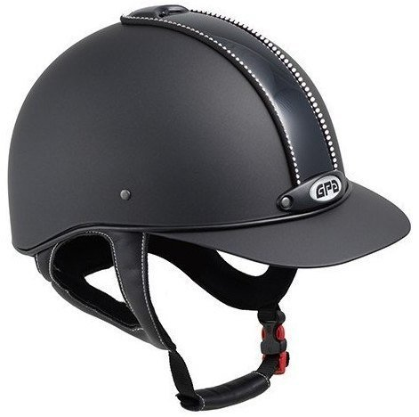 GPA New Classic Swarovski Crystal Riding Helmet - Black With Crystal (£305.