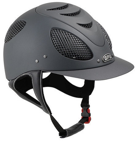 GPA New Generation EVO + 2X Riding Helmet - Grey and Silver Grill (£332.50