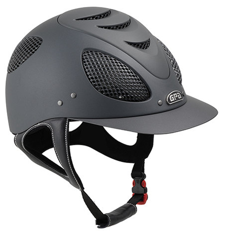 GPA New Generation EVO + 2X Harness Tone On Tone Riding Helmet - Grey With