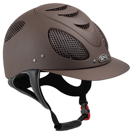 GPA New Generation EVO + 2X Harness Tone On Tone Riding Helmet - Brown With