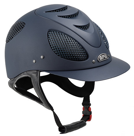 GPA New Generation EVO + 2X Harness Tone On Tone Riding Helmet - Navy With