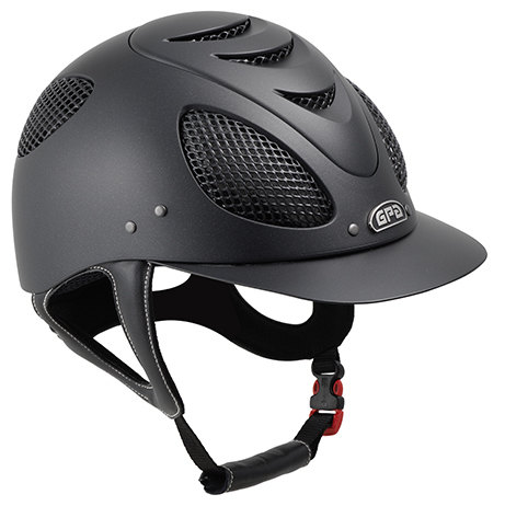 GPA New Generation EVO + Tone On Tone 2X Riding Helmet - Black With Black G