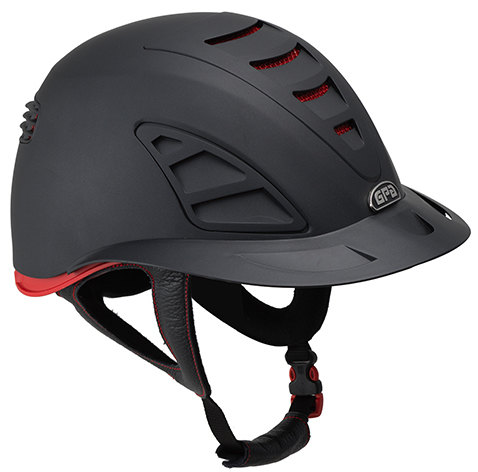 GPA Speed Air First Lady 4S REDLINE Collection Riding Helmet - Black/Red (£