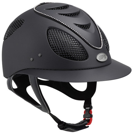 GPA First Lady Swarovski Crystal Riding Helmet - Black With Crystals (£415