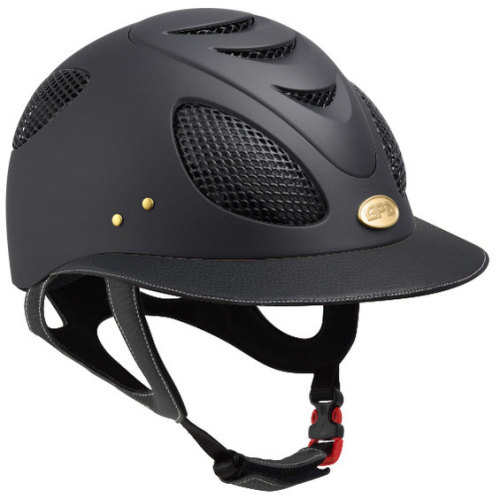 GPA First Lady 2X Leather Riding Helmet - Black/Black Leather (£437.50 Exc