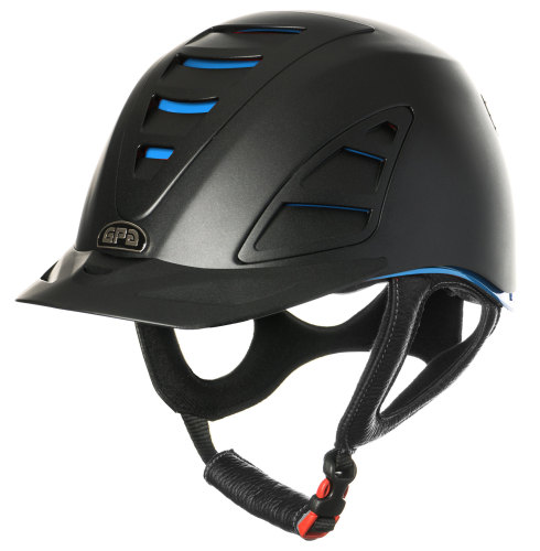 GPA Speed Air 4S REDLINE Collection Riding Helmet - Black/Blue (£375.00 Exc
