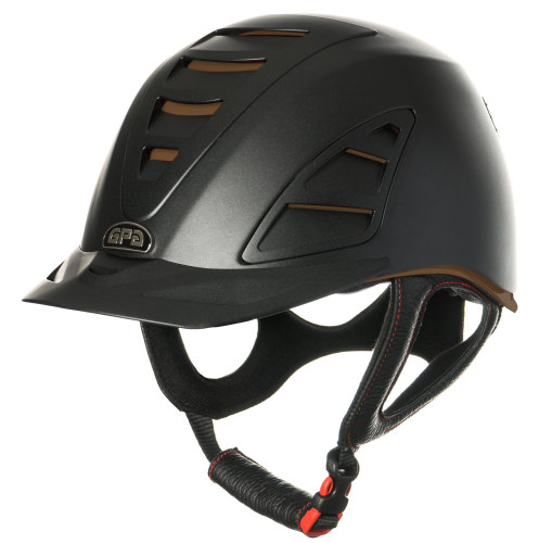 GPA Speed Air 4S REDLINE Collection Riding Helmet - Black/Chocolate (£375.0