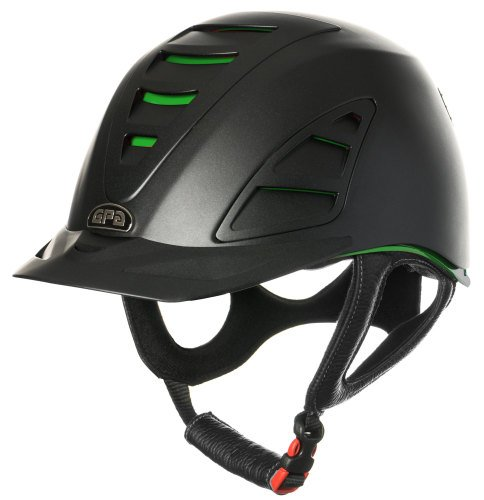 GPA Speed Air 4S REDLINE Collection Riding Helmet - Black/Green (£375.00 Ex