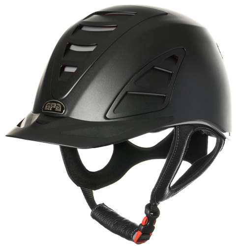 GPA Speed Air 4S REDLINE Collection Riding Helmet - Black/Grey (£375.00 Exc