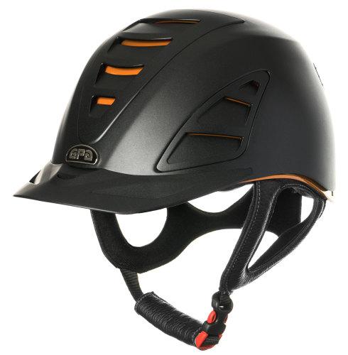 GPA Speed Air 4S REDLINE Collection Riding Helmet - Black/Orange (£375.00 E