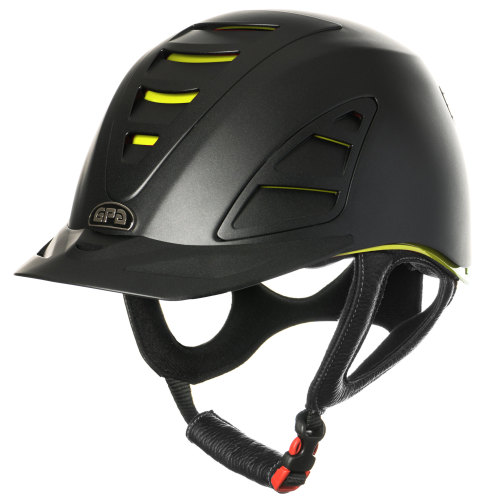 GPA Speed Air 4S REDLINE Collection Riding Helmet - Black/Yellow (£375.00 E