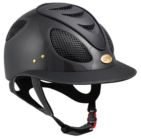 GPA First Lady Leather Carbon 2X Riding Helmet - Matt or Shiny Carbon Black