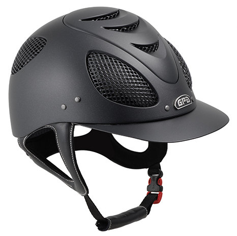 GPA New Generation EVO + 2X Riding Helmet - Black With Silver Grill (£332.5