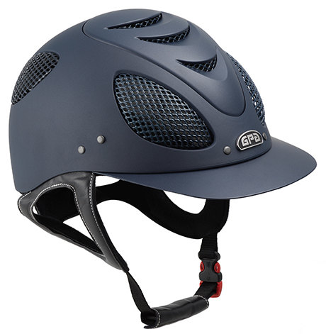 GPA New Generation EVO + 2X Riding Helmet - Navy With Silver Grill (£332.50