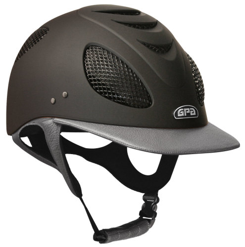 GPA New Generation EVO+ 2X Leather Riding Helmet - Grey Leather (£415.83 Ex