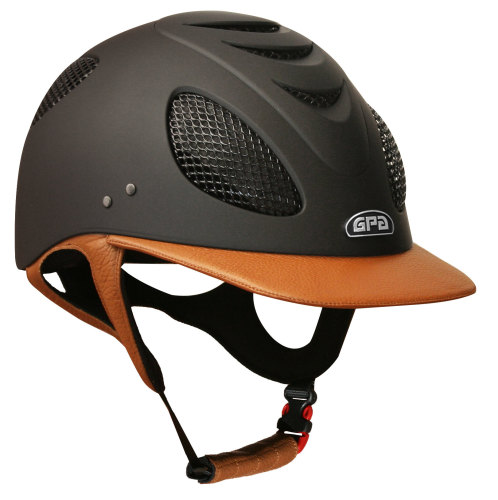 GPA New Generation EVO+ 2X Leather Riding Helmet - Gold Tan Leather (£415.8