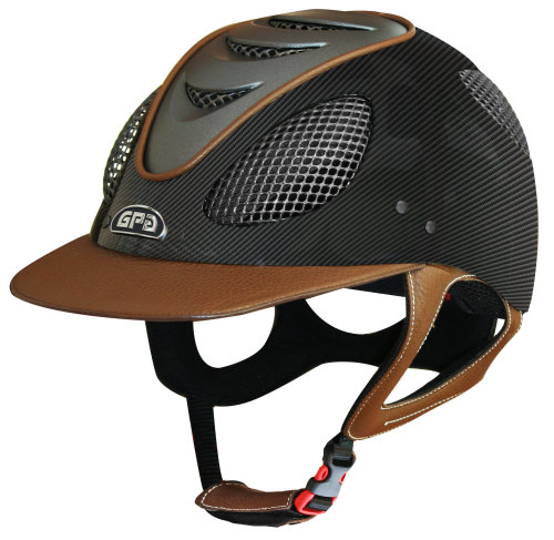 GPA New Generation EVO+ 2X Carbon Leather Riding Helmet - Leather (£415.83