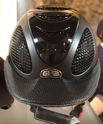 GPA Speed' Air 2X Leather Riding Helmet - Black/Black Leather With Polished