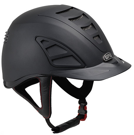 GPA Speed Air 4S REDLINE Collection Riding Helmet - Black/Black (£375.00 Ex