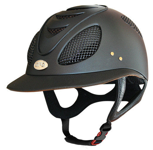 GPA First Lady 2X Leather Riding Helmet - Black/Chestnut (£487.50 Exc VAT &