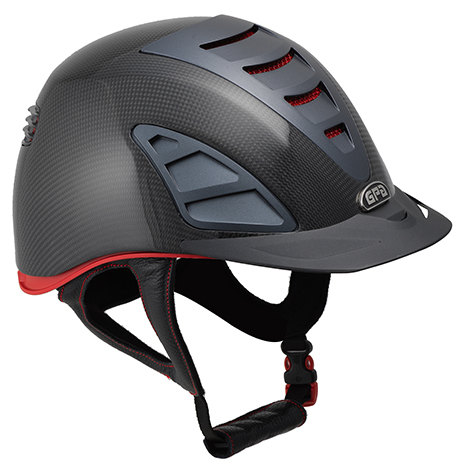 GPA Speed Air Carbon 4S REDLINE Collection Riding Helmet - Shiny Carbon (£7
