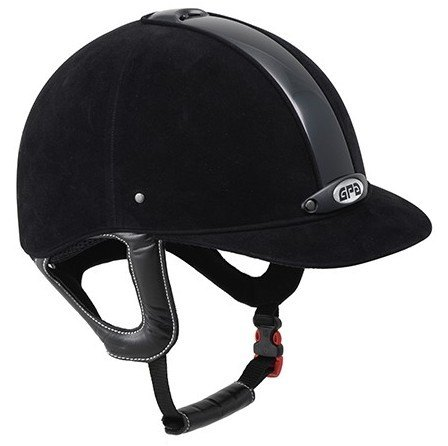 GPA New Classic 2X Harness Velvet Riding Helmet - Black/Black (£270.83 Exc