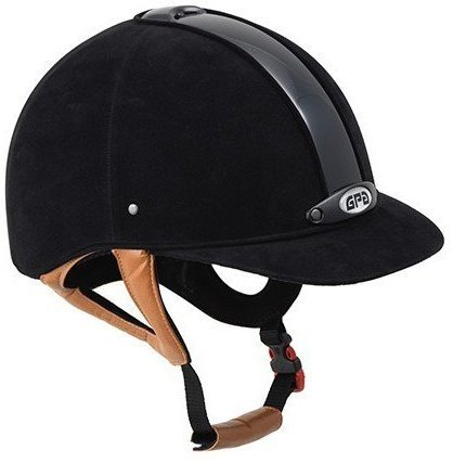 GPA New Classic 2X Harness Velvet Riding Helmet - Black/Tan Harness (£270.8