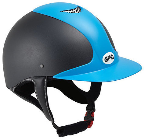 GPA Jimpi 2X Harness Riding Helmet - Black/Blue (£165.83 Exc VAT & £199.00