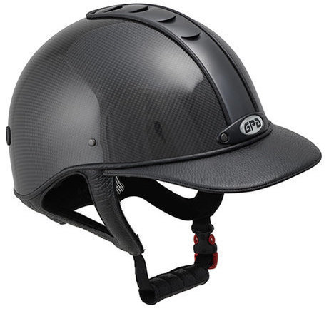 GPA Highlite Prestige Carbon Riding Helmet -  Shiny Carbon Shell/Black Leat