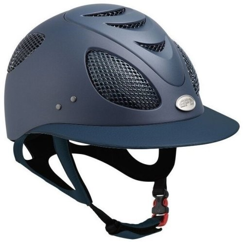 GPA First Lady 2X Leather Riding Helmet - Navy/Navy Leather (£470.83 Exc VA