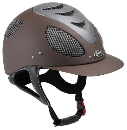 GPA New Generation EVO + 2X Riding Helmet - Brown With Silver Grill (£365.8