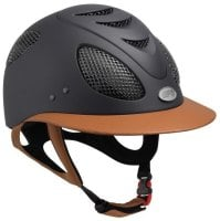GPA First Lady Leather Riding Helmet - Brown/Tan Leather (£525.00 Exc VAT & £630.00 Inc VAT)