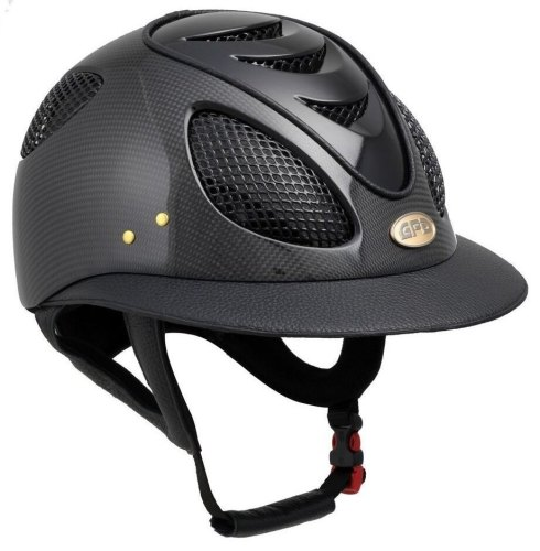 GPA First Lady Leather Carbon 2X Riding Helmet - Shiny or Matt Carbon, Choi