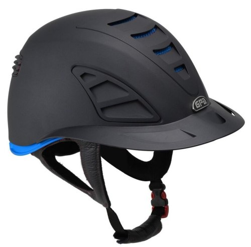 GPA Speed Air First Lady 4S REDLINE Collection Riding Helmet - Black/Blue (