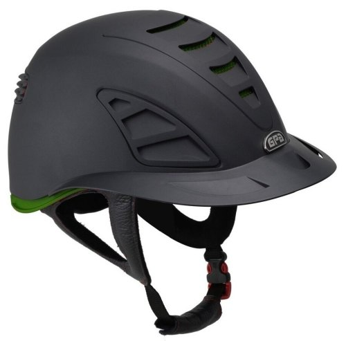 GPA Speed Air First Lady 4S REDLINE Collection Riding Helmet - Black/Green