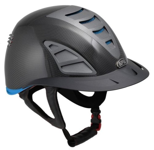 GPA First Lady Carbon 4S REDLINE Collection Riding Helmet - Shiny Carbon/Bl