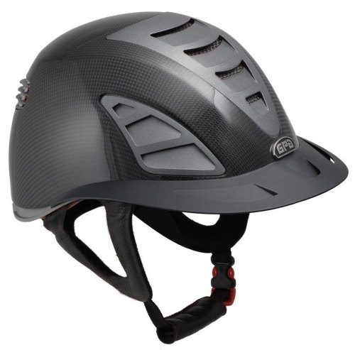 GPA First Lady Carbon 4S REDLINE Collection Riding Helmet - Shiny Carbon/Gr