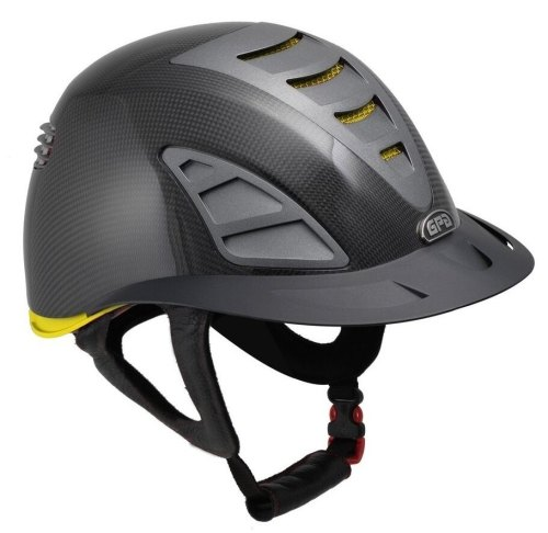 GPA First Lady Carbon 4S REDLINE Collection Riding Helmet - Shiny Carbon/Ye