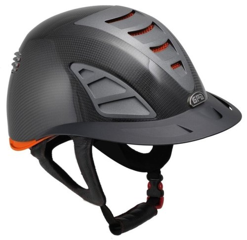 GPA First Lady Carbon 4S REDLINE Collection Riding Helmet - Shiny Carbon/Or