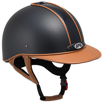 GPA New Classic Leather 2X Painted Riding Helmet - Various Leather Options
